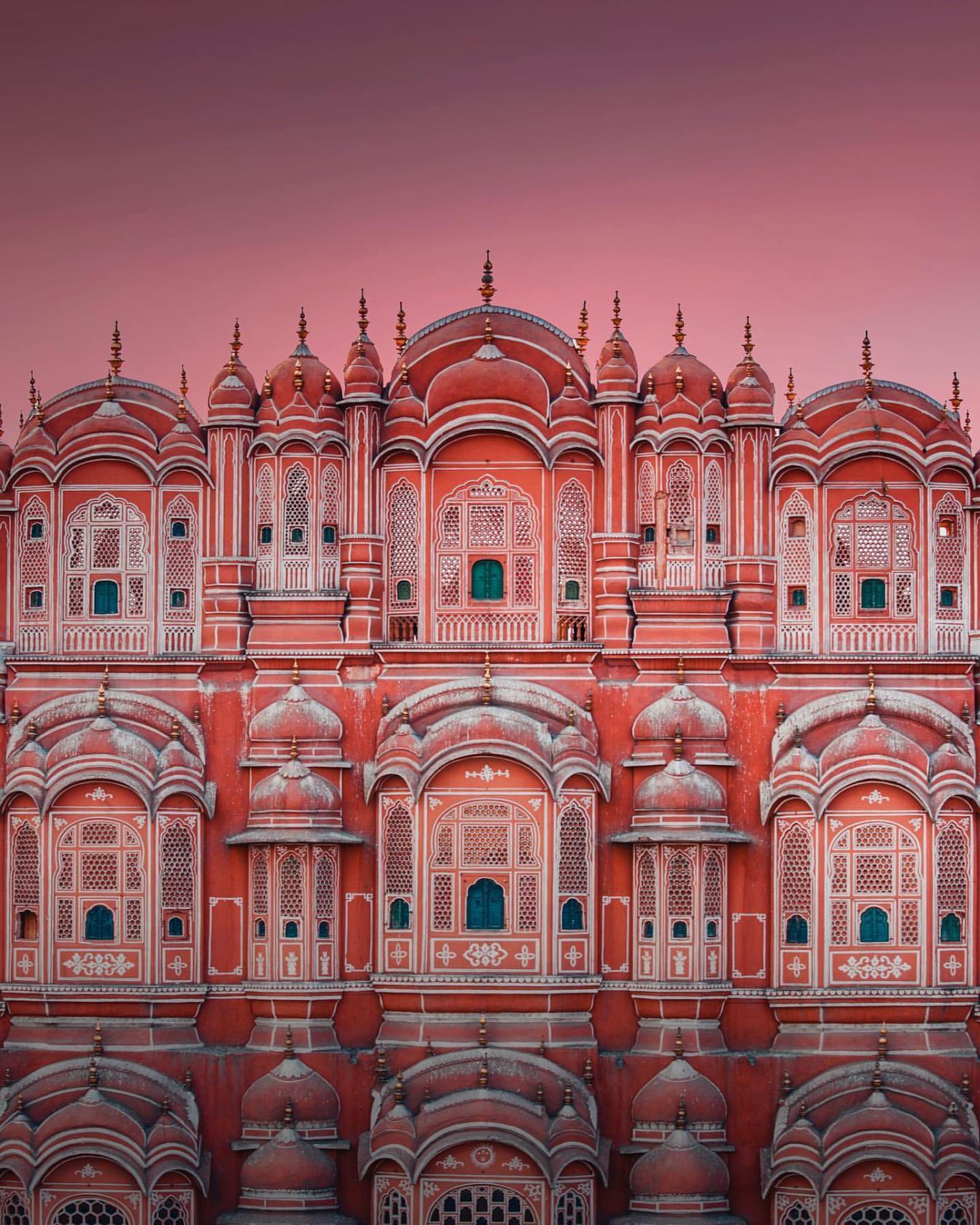 Хава-Махал - дворцовый комплекс в Джайпуре, Индия