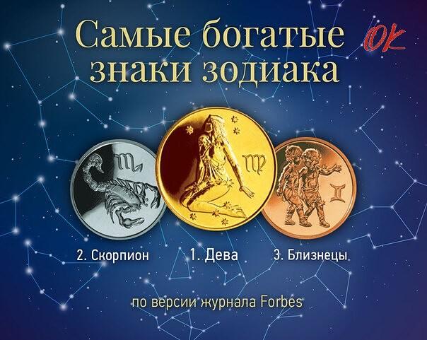 Какой знак Зодиака самый богатый?