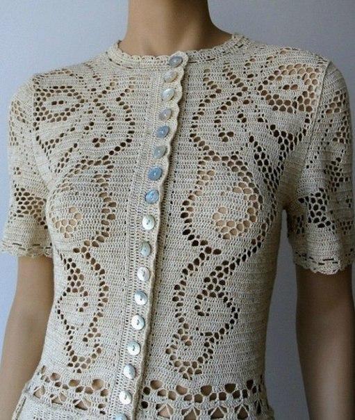 платье филейным узором из серии сухоцветы