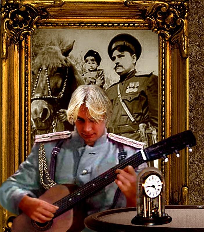 идет белый офицер с гитарой фото из кино причиной