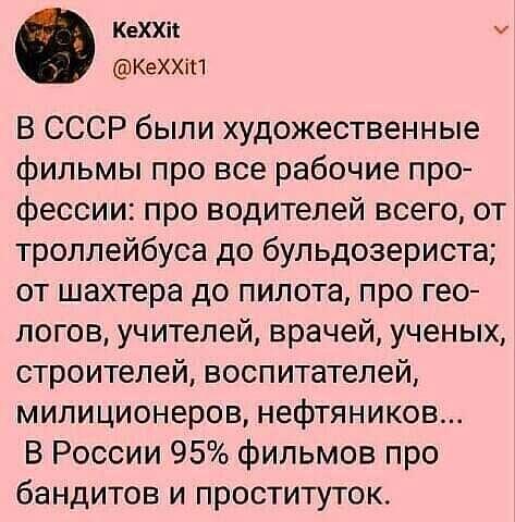 Фильмы СССР и РФ