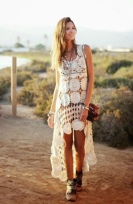 c4418dc18d21394 Красивое длинное пляжное платье крючком. Схемы мотивов