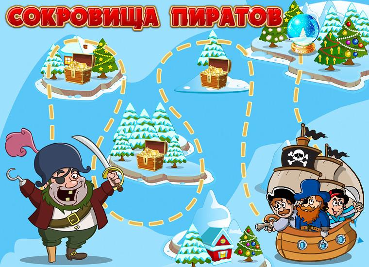 как играть в карту в игре сокровища пиратов