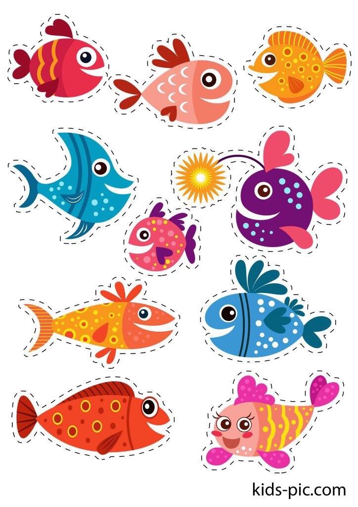 Аквариумные рыбки рисунок