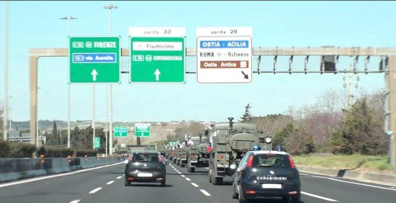Вброс от La Stampa: 80% российской помощи Италии бесполезно