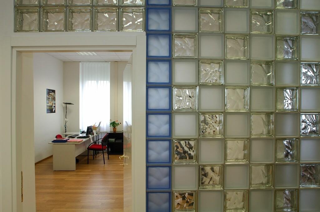 Декорирование стеклоблоками