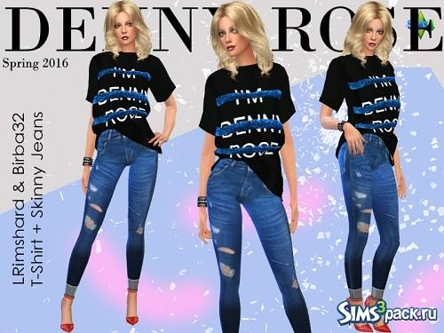 7c1a569050c Скачать сет одежды Denny Rose от Birba32 для Симс 4 - бесплатные дополнения  для Sims 4