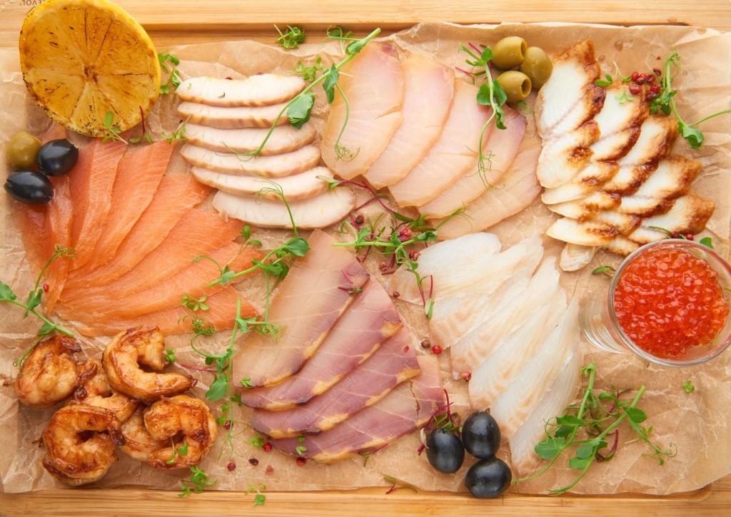 Рыбная тарелка фото состав оформление