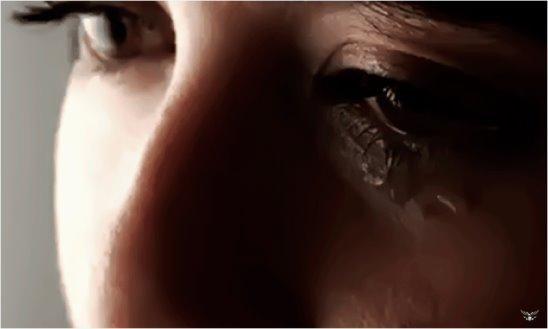 Гифка девочка плачет