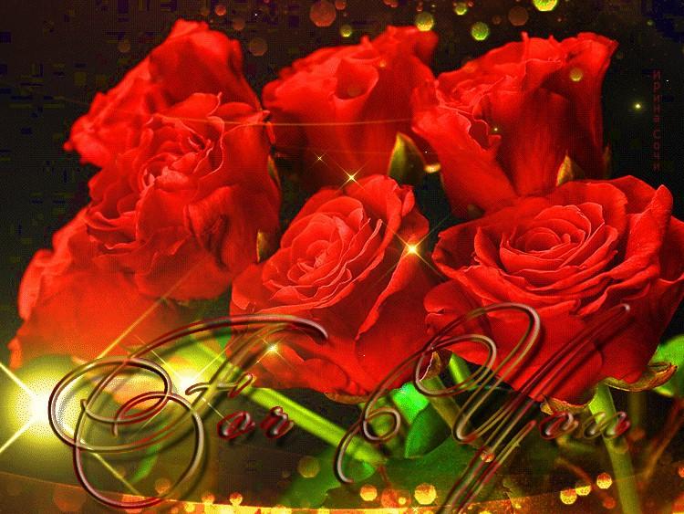 Горячего, гиф открытка розы с днем рождения