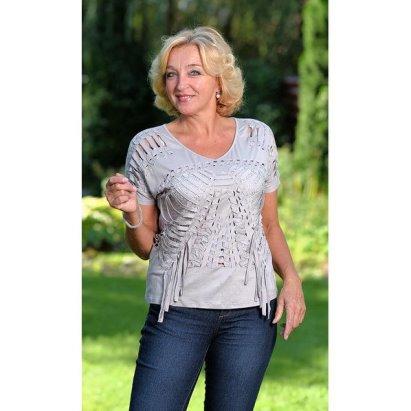 33d2fd3d9e4 Французское кружево Блуза Рейна - Серый купить в интернет магазине Monika
