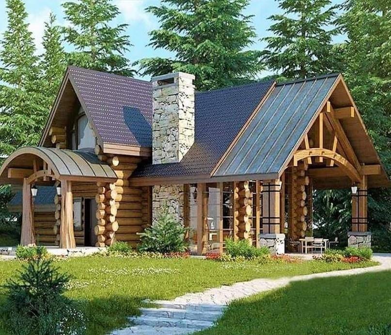 красивые дома из бревна фото и проект татарской кухни азу