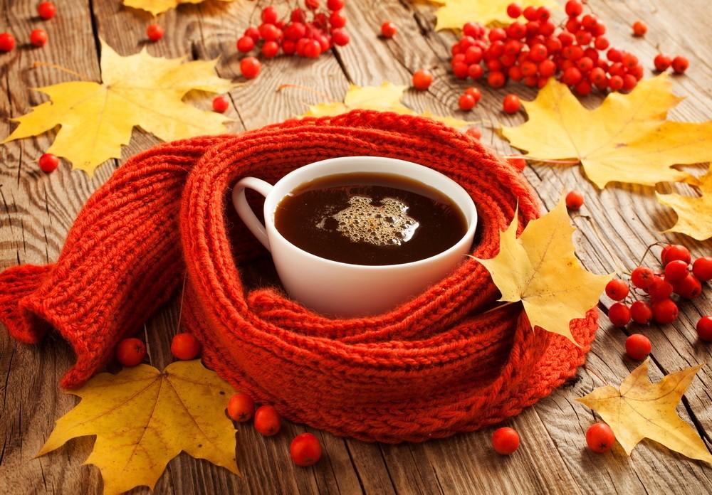 Осень и кофе картинки