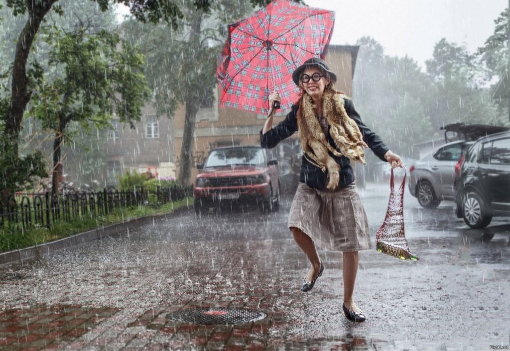 Смешные картинки про дождливую погоду осенью