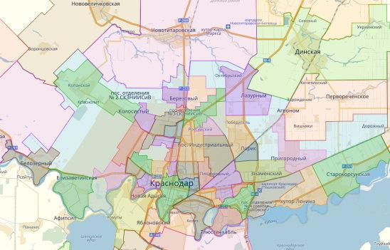 45b551405c581 Карта районов - #Краснодар и пригороды.