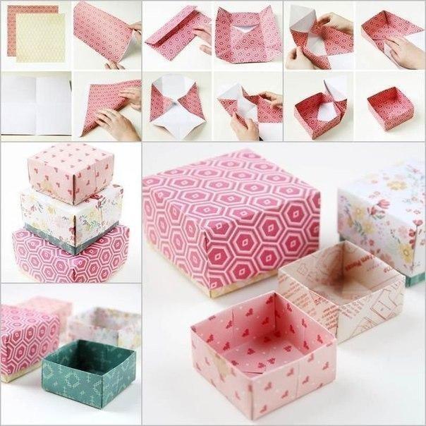 Это, красивые коробочки своими руками