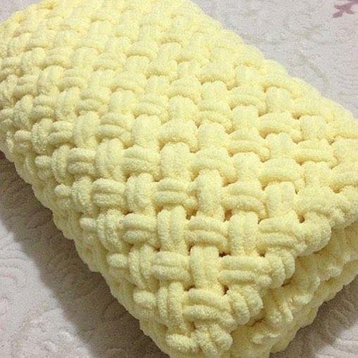 Вязание из ализе пуффи плетенка