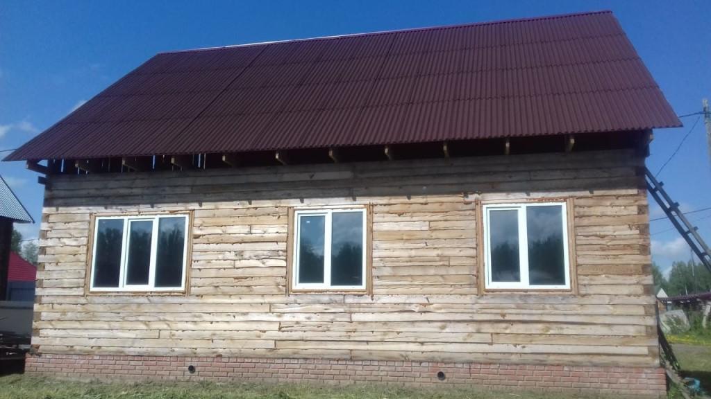 Продаётся недостроенный дом 100м2.Томская обл.