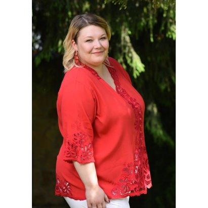 736f23f2db3 Французское кружево Блуза Фантазия - Красный купить в интернет магазине  Monika