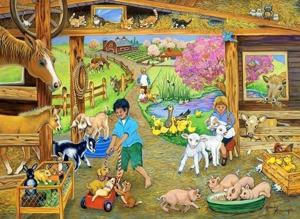 Сюжетные картинки с домашними животными для детей