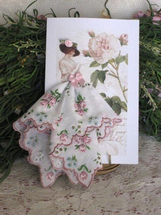 Маме юбилей, открытки с платочками