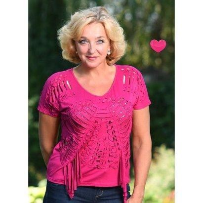 9f8c9dfacaa Французское кружево Блуза Рейна - Розовый купить в интернет магазине Monika