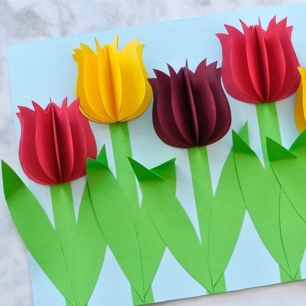 Болота, поделки на 8 марта открытка с объемными цветами