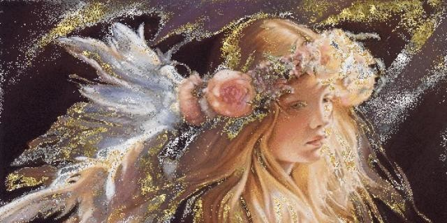Анимация открытки ангела-хранителя