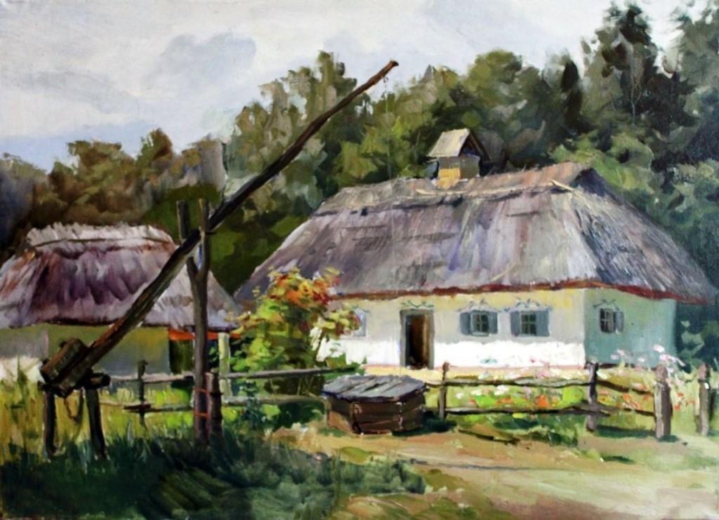 картинка в деревне у колодца высокий журавль стоимость посадочного