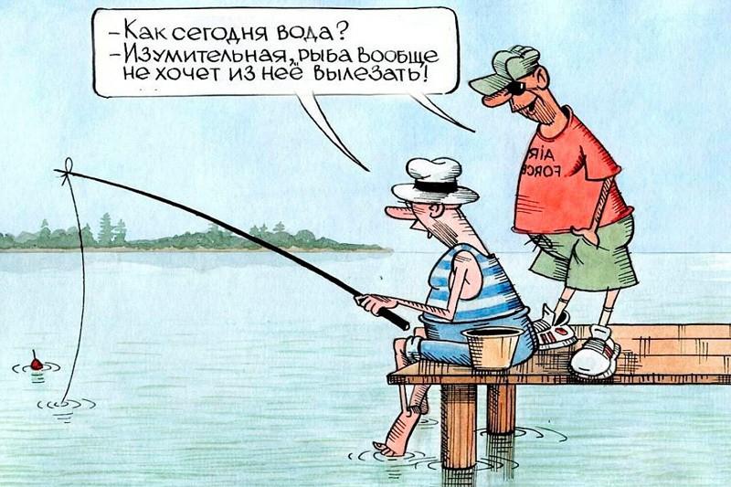Весёлые картинки о рыбалке