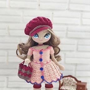 вязаные куклы крючком амигуруми мастер классы Okru