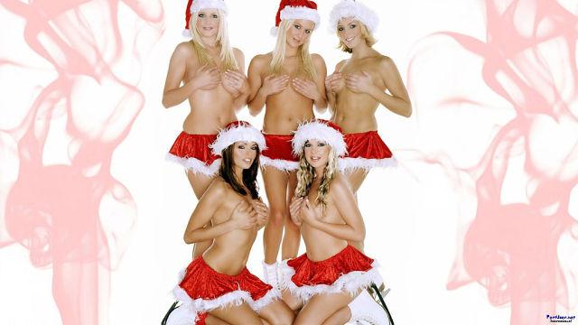 Сексуальные новогодние фотографии #13