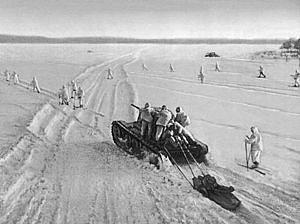 Советский Союз активно использовал лыжные войска во время Второй мировой  войны, в особенности, во время контрнаступления под Москвой в 1941—1942  годах. 3e9c8395672