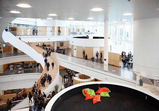 Картинки по запросу open space, Ørestad Gymnasium