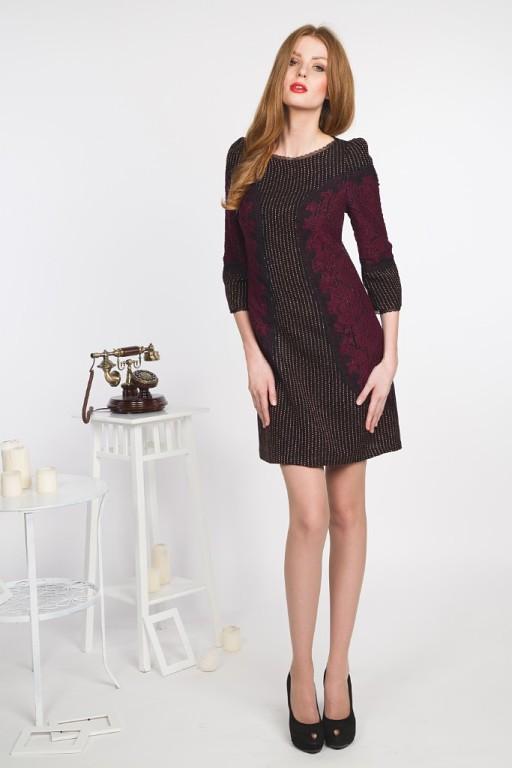 ... переплетением нитей разных оттенков, платье на подкладе. Отделка  кружевом и кружевной тесьмой. Платье отлично подходит для холодного времени  года. 1aa08512de8