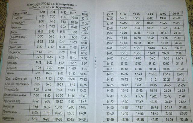 расписание автобусов пермь курашим 747 748