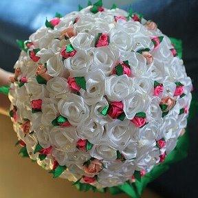 Букет свадебные букеты канзаши магазин цветов лепестки