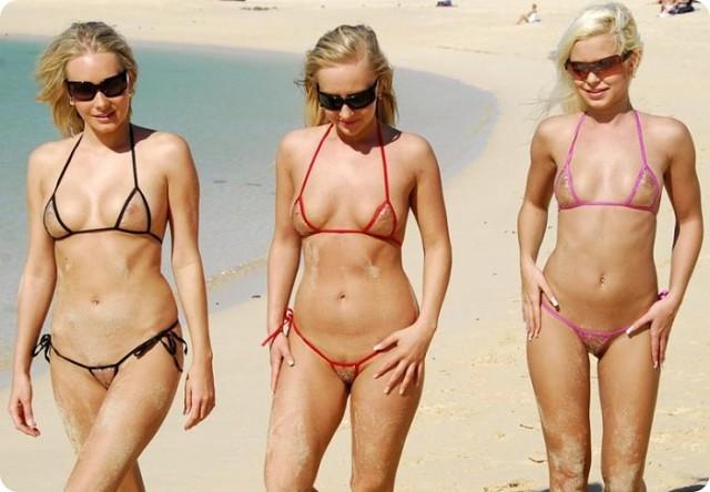 Микро стринги на пляжже фото 435-535