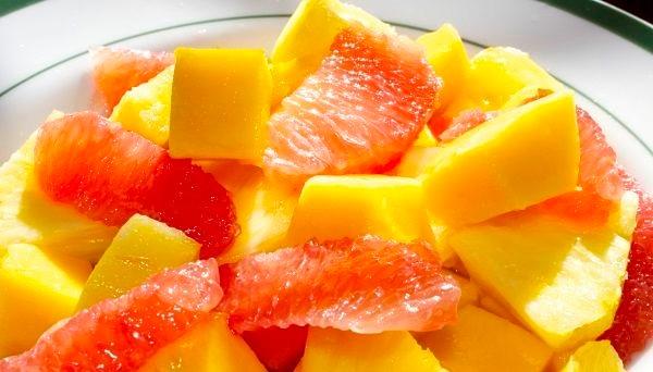 Картинки по запросу салат из ананаса и грейпфрута