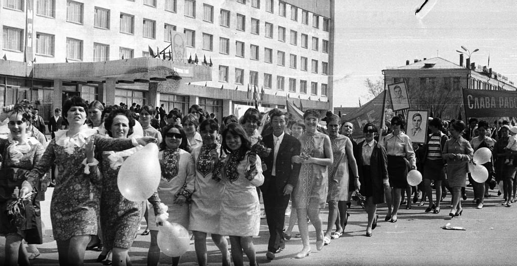 Первомайская демонстрация. 1971 год