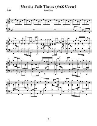 Гравити Фолз на фортепиано