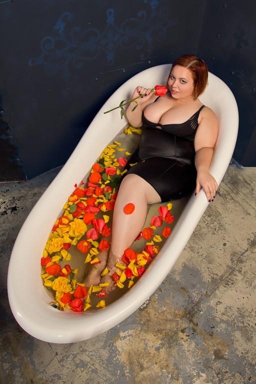 пышка в ванне