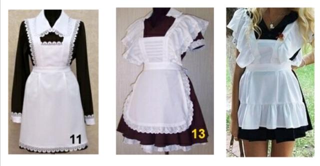 Как сшить фартук для школьного платья фото 318