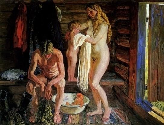 Русские бабы моются в русской бане — img 3