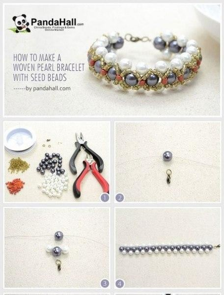 схемы плетения браслетов из бисера и бусин
