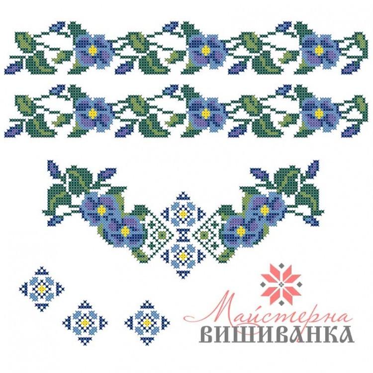 Схема для вишивання на флізеліні