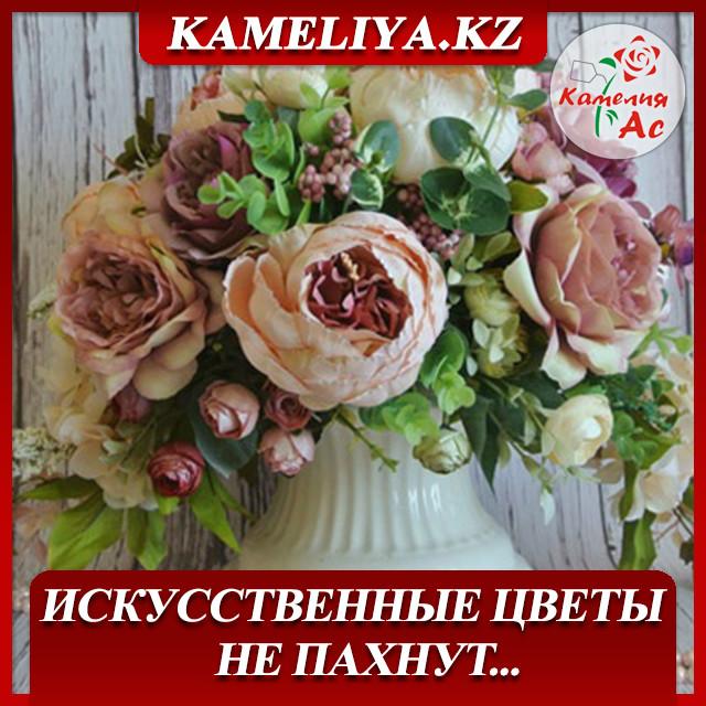 Цветы пионы купить в астане, уход за купленными букетом розами