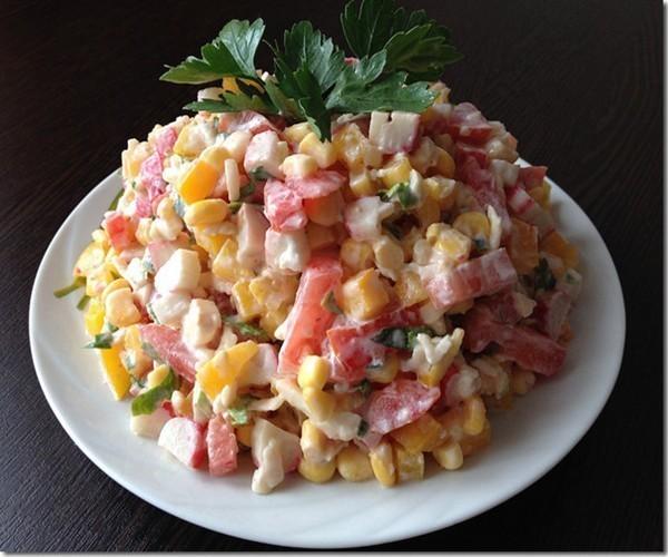 Салат с крабовой колбасой #5
