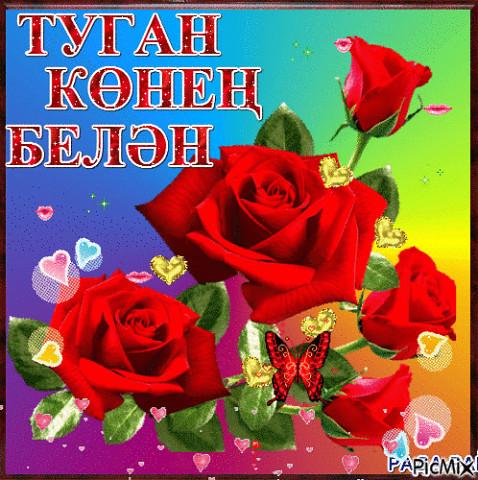 Туган кон открытка татарча, красивые коты
