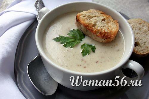 суп из белых свежих грибов со сливками